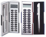 Calculadora de Magic Box Set con Bolígrafo metálico (KC-870S)
