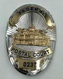 Emblema personalizado do bronze da antiguidade do exército da polícia