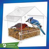 明確なアクリルの鳥の送り装置、吸引のWindowsの送り装置