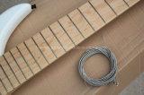 Белый Semi-Finished Hanhai 7 строк электрическая бас с черными аппаратного обеспечения