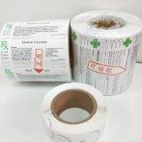 Étiquettes médicales imperméables à l'eau personnalisées de Rx de fioles de bruit