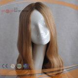 Parrucca superiore di seta di Sheitel del lavoro ebreo ondulato elegante (PPG-l-0455)