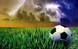 Grama do futebol da qualidade de FIFA para a primeiro liga