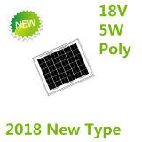 el panel solar polivinílico de 18V 5W para el sistema 12V (2018)