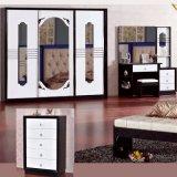 غرفة نوم ثبت أثاث لازم مع كلاسيكيّة سرير وخزانة ثوب (3361)