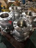 La turbine 2PC de Vis sans fin-Vitesse d'acier du carbone a bridé robinet à tournant sphérique monté par tourillon