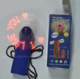 Mini ventiladores de encargo del texto el contellear del LED con insignia impresos (3509)