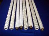 Cartucho de filtro hecho girar de la herida de la cadena de los PP del polipropileno con base del acero inoxidable/PP