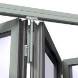 Como2047 Ce em alumínio com certificação ISO Bi-Folding portas de vidro