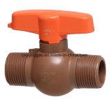 Vávula de bola compacta plástica de las válvulas y de las guarniciones de la era M/M