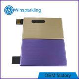 Memoria di disco istantaneo del USB della scheda del metallo dell'oro