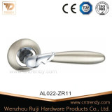 Round Rosette (AL023-ZR03)에 까만 Nickel Aluminum Door Lock Handle
