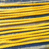 Fabricante de la fábrica 12 Strand amarillo Ultra Alto Peso Molecular de la cuerda cuerda de UHMWPE Polyethlene