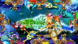 El monstruo de fichas despierta la máquina de juego de la arcada del vector de juego de los pescados