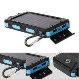 防水太陽エネルギーバンク2 USBのiPhoneのためのポートの太陽充電器のコンパスLED軽いPoverbank