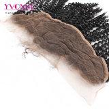 Frontal rizado del cordón del enrollamiento del pelo malasio de Yvonne con el pelo del bebé