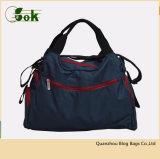 귀여운 디자이너 작은 접시 여행 핸드백 아기를 위한 파란 여자 미라 기저귀 손 끈달린 가방