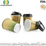 Doppelter geummauerter Coffeepaper Cup-Wegwerfgroßverkauf