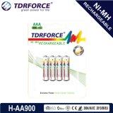 1.2V再充電可能で低い自己放電のニッケルの金属の水素化合物200mAh中国Fatory電池(HR03-AAA 900mAh)