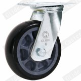 Roda de poliuretano preto Rodízio Industrial com freio