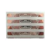 La ISO 18000-6c/6b-8 de la frecuencia ultraelevada EPC mojó la escritura de la etiqueta pasiva modificada para requisitos particulares RFID de la etiqueta engomada del papel de la etiqueta de la frecuencia ultraelevada del papel de la etiqueta engomada del embutido RFID