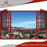 Ventana esmaltada doble de aluminio del toldo del marco de la calidad estupenda con la pantalla