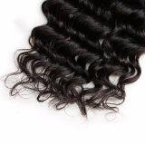 Le cheveu profond de bonne qualité d'onde rapièce le cheveu cru de Brésilien de cheveux humains
