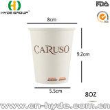 Bebida caliente taza de papel encerada 8 onzas/taza de un sólo recinto
