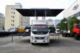 LED 스크린을%s 가진 Foton 4X2 이동할 수 있는 단계 실행 차량