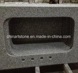 中国の花こう岩の大理石の水晶石の台所カウンタートップ(G603またはPadangの白)