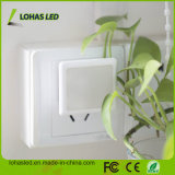 Lohas inserisce l'indicatore luminoso di notte con crepuscolo per albeggiare indicatore luminoso bianco di notte di luce del giorno 5000K LED del sensore 0.3W