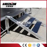 Estágio de alumínio ajustável do casamento de Modualr com escadas