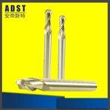 2/3 di fresa di alluminio del carburo solido rivestito del tungsteno delle scanalature