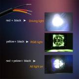 Luz auto del trabajo de los halos teledirigidos brillantes LED del flash 12V 6500K 15W RGB