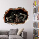 3D film decorativo adhesivo de pared extraíble congelados