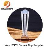 China fábrica de cristal personalizado Trofeo de metal para el Deporte