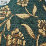 Tissu vert High-Grade Golden Jacquard tissu Chenille (FTH31225)