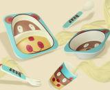 BPA geben Eco Bambusfaser-Kind-Essgeschirr-Set frei