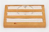 3 Schicht-hölzernes u. Leinenschmucksache-Bildschirmanzeige-Tellersegment-zur Schau stellenringe