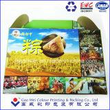 Pastel de alimentos/caja de embalaje de papel con impresión de laminación en China