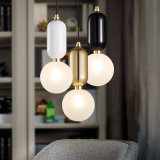 De noordse Moderne Eenvoudige Lamp van de Tegenhanger van de Bal van het Glas