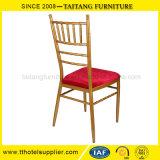 빨간 조정 방석 결혼식 의자를 가진 철 Chiavari 의자