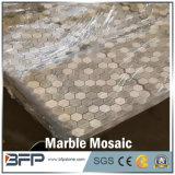 Мозаика круглой формы природы каменная белая мраморный для плитки ванной комнаты