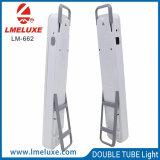 Indicatore luminoso portatile con due tubi che illuminano funzione