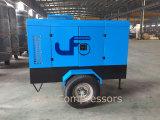De goedkoopste Draagbare 7bar 8bar Mobiele Compressor van de Lucht van de Aandrijving van de Dieselmotor