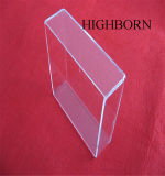 明確な無水ケイ酸の水晶皿を溶かす高品質の磨く長方形