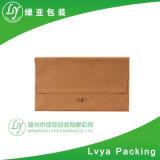 Sac de papier promotionnel de cadeau, sac de transporteur de sac, de chaussure et de vêtement de papier de Brown emballage, boutique