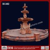 Fontaine de marbre découpée par main pour extérieur (SK-2441)