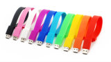 Silicone moda pulseiras banda barato pen drives USB fábrica na China