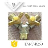 Valvola a sfera d'ottone di 3 modi per il tester di gas (EM-V-B253)